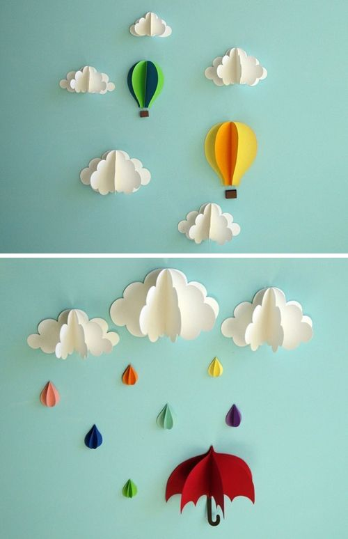 21 Extraordinary Smart DIY Paper Wall Decor That Will Color Your Life