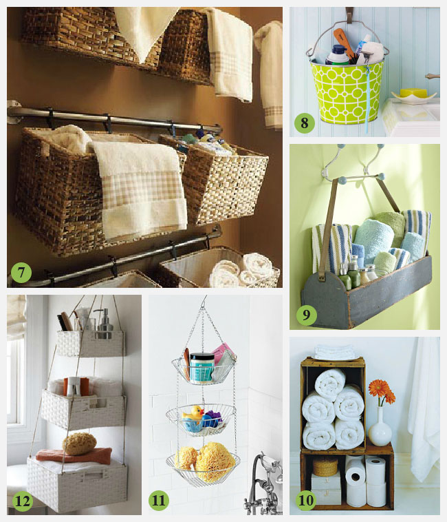 33 bathroom storage hacks and ideas that will enlarge your for Unique small bathroom designs