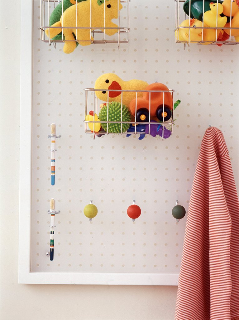 colorful pinboard in the bathroom 33 Bathroom Storage Hacks and Ideas That Will Enhance Your Home