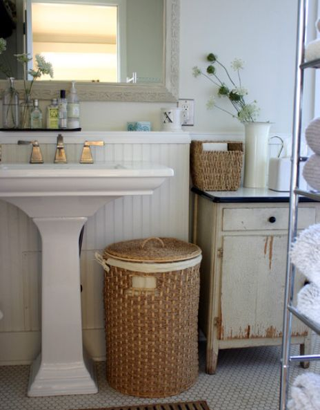 warm and cozy interior design in the bathroom - Bathroom Baskets