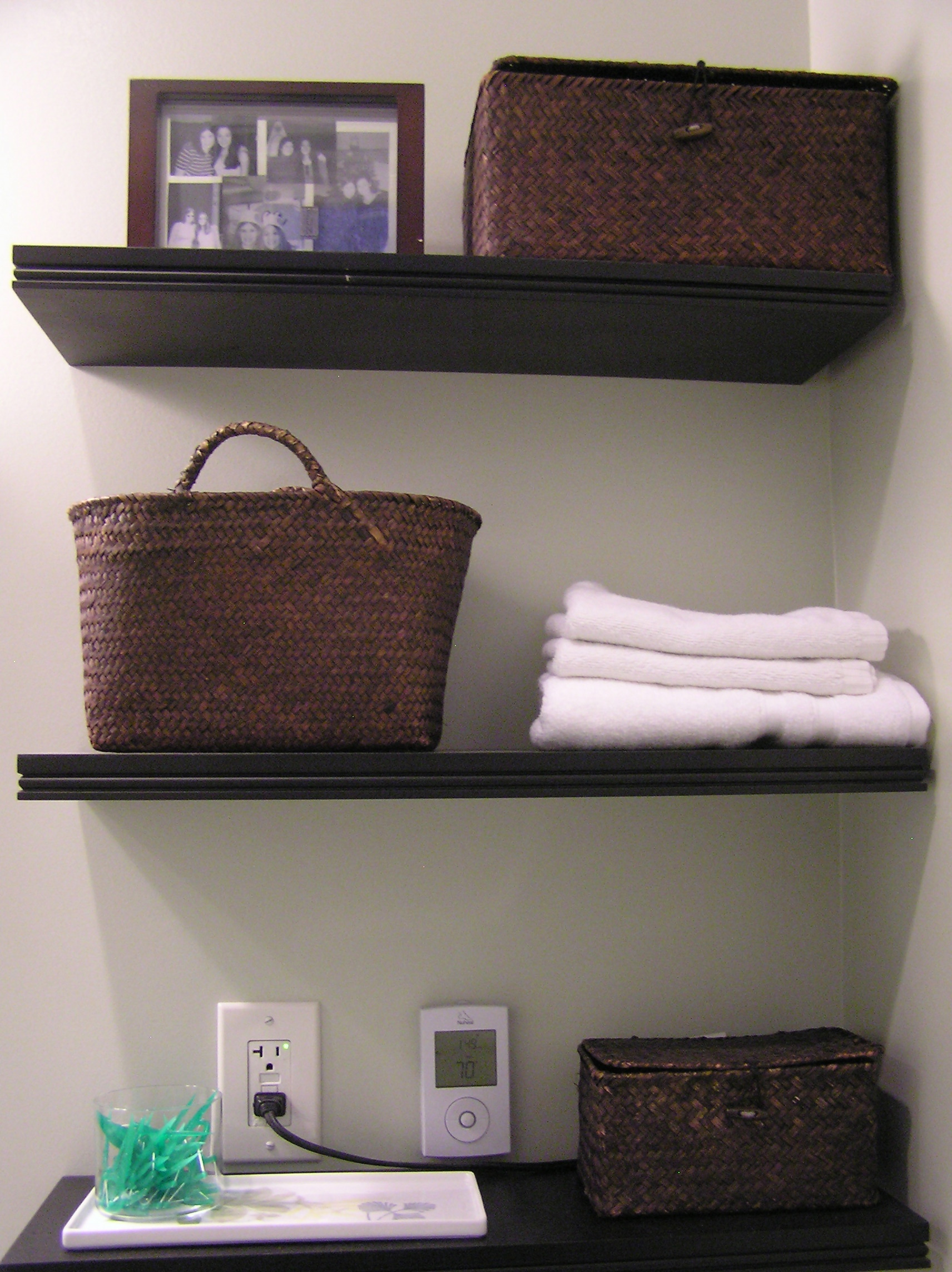 bathroom ikea shelves toilet pinterest cabinet over rack ideas shelf baskets storage
