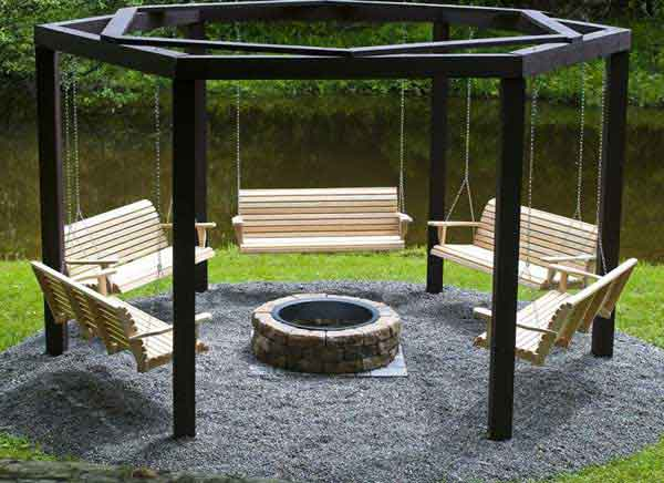 35 Swings You Should Definitely Try Once in Your Lifetime-homesthetics fire pit swing chair set