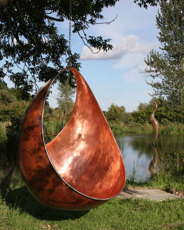 35 Swings You Should Definitely Try Once in Your Lifetime-homesthetics sculptural swing by Stephen Myburgh