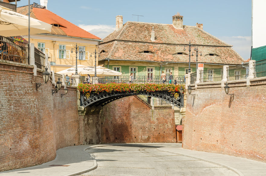 #43 The Bridge Of Lies, Sibiu, Romania. Oldest Cast-iron Bridge, Installed In Place Of A Wooden One