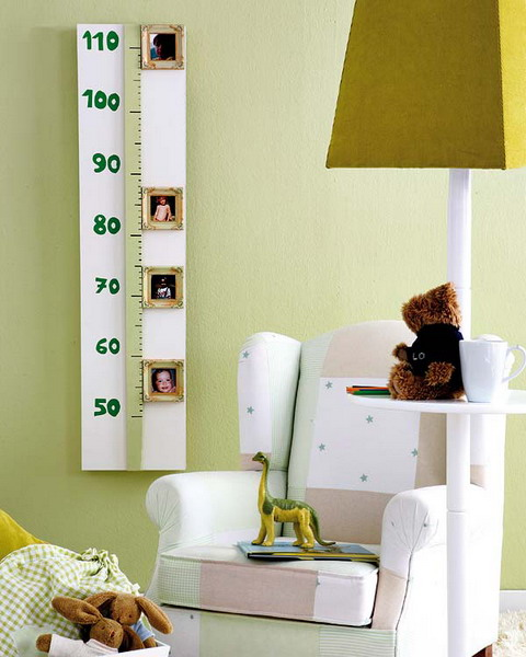 Adorable Smart DIY Nursery Projects - Wall Decor-Growth Chart Ideas homesthetics (9)