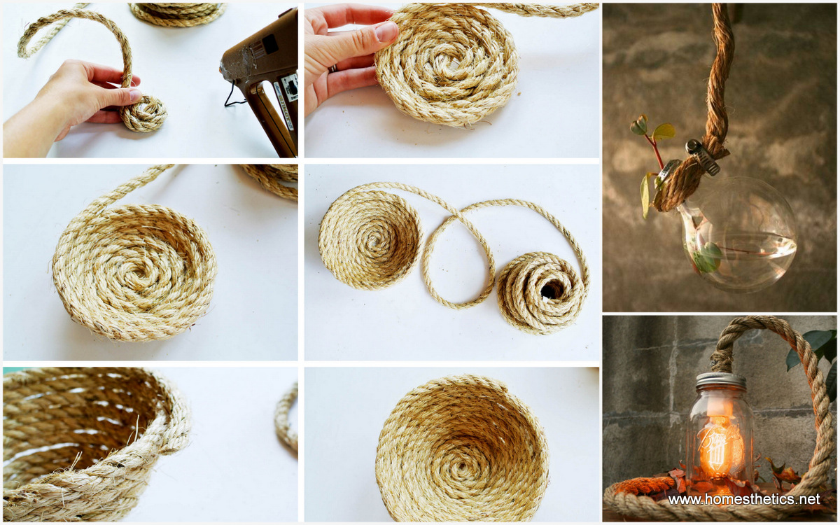 Get creative with these 25 easy diy rope projects for your home now - Creative digital art ideas for your home ...