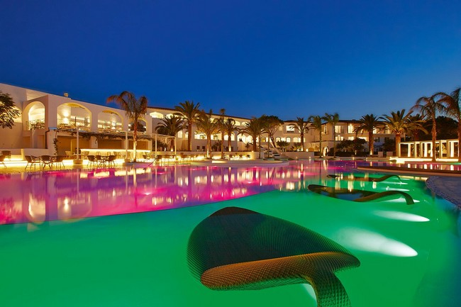 Colorful Confetti Sculptural Swimming Pool at The Grecotel Caramel Boutique Resort