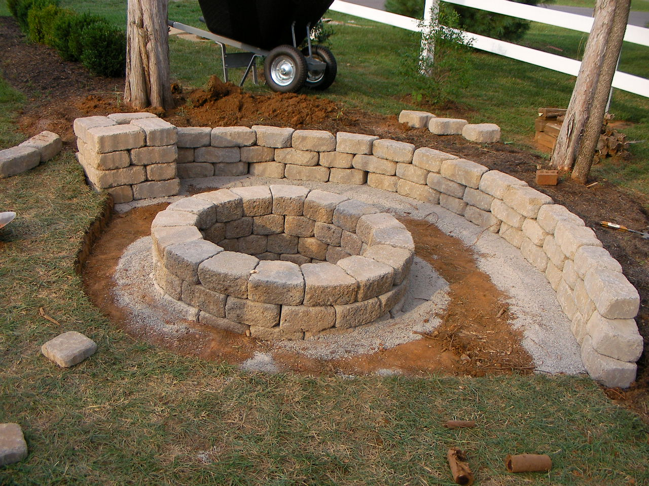 Creatively Luxurious DIY Fire Pit Project Here to Enhance ... on Diy Outdoor Fire id=40193