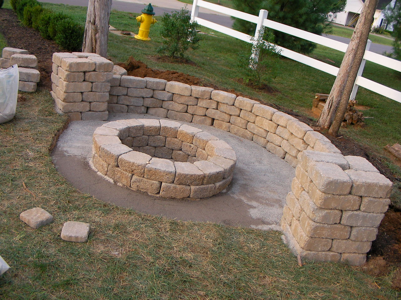 Creatively Luxurious DIY Fire Pit Project Here to Enhance ... on Diy Outdoor Fire id=45872