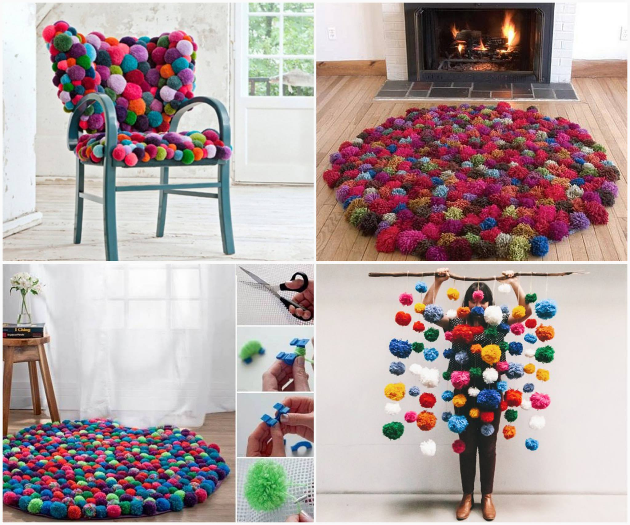 Pom-Pom Crafts and Ideas-homesthetics (11)