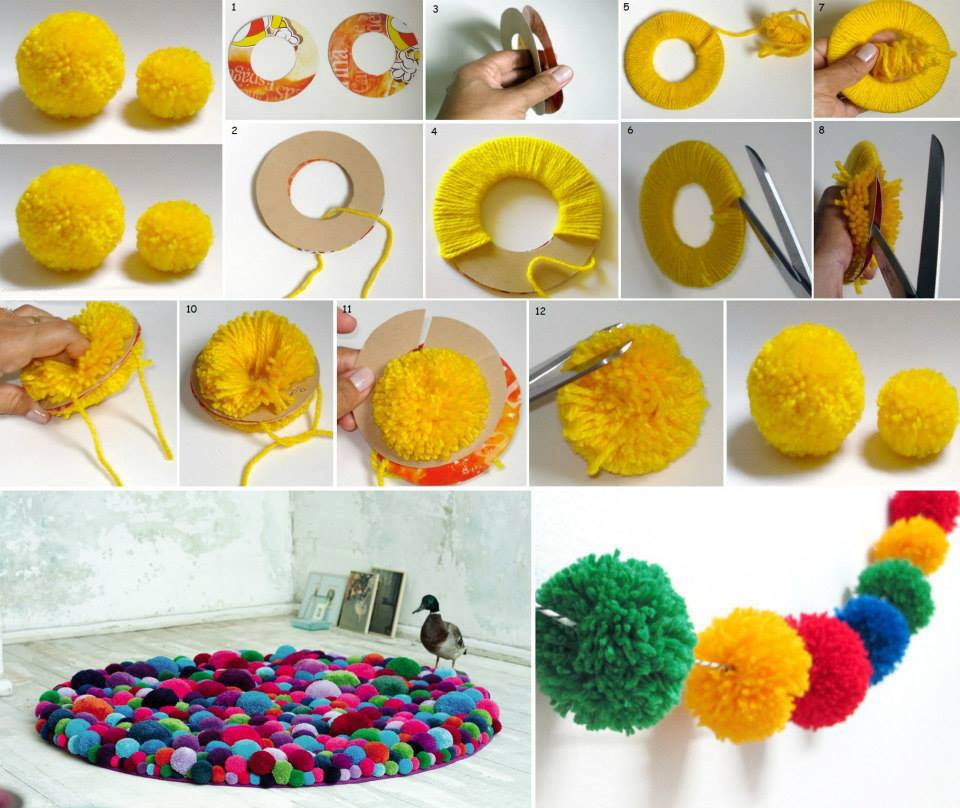 Pom-Pom Crafts and Ideas-homesthetics (13)