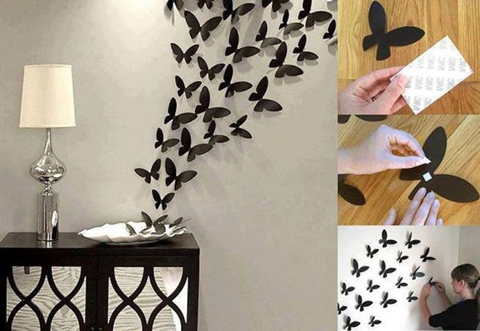 36. PAPER BUTTERFLY WALL DECOR