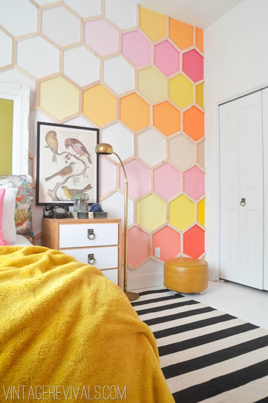diy hexagonal wall art