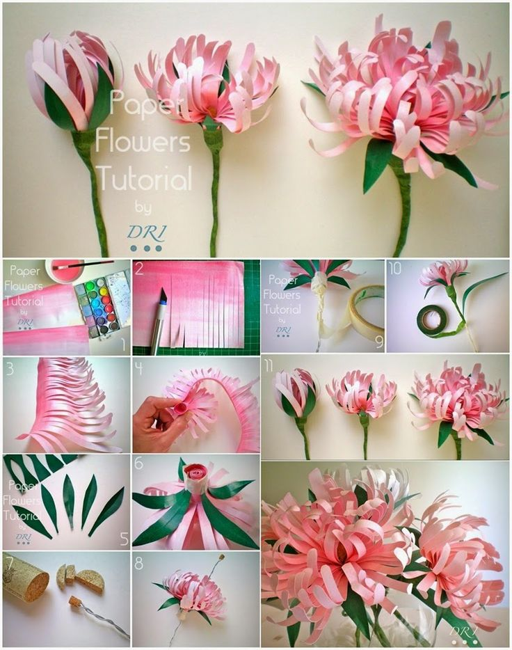 Mesmerizing diy handmade paper flower art projects to beautify your home painted paper flowers mightylinksfo