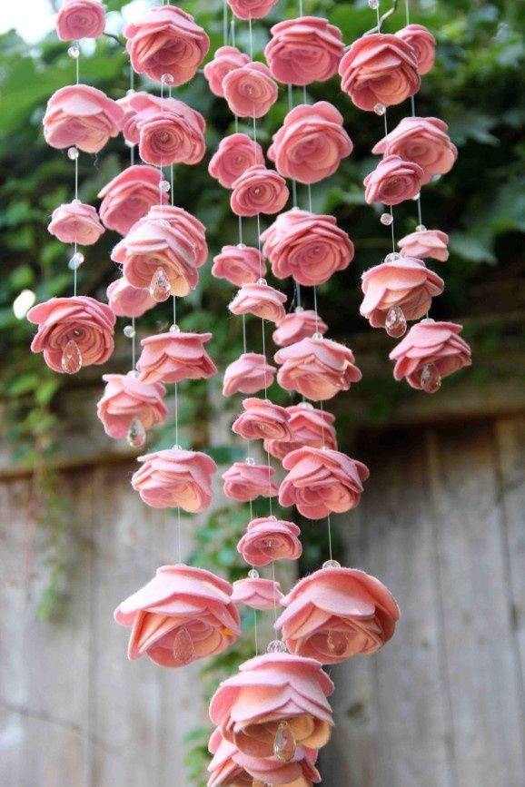 Mesmerizing diy handmade paper flower art projects to beautify your home make rose garlands and gang them in the garden for dinner parties mightylinksfo Choice Image