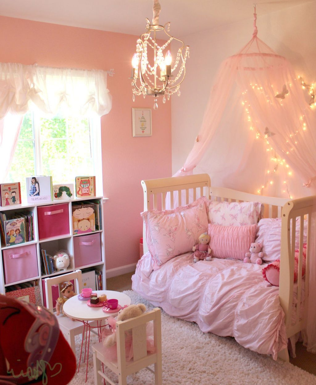 Interior Design Elegant Pink White Gray Baby Girl Room: 32 Dreamy Bedroom Designs For Your Little Princess
