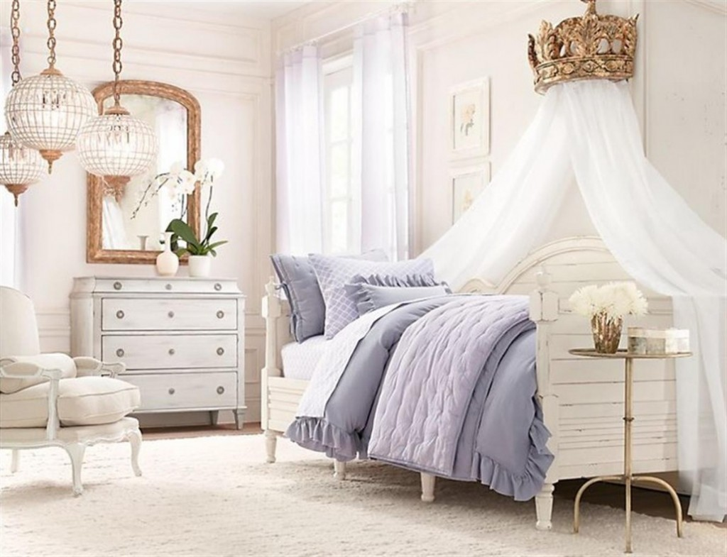 White Is Also Perfect For A Princess Bedroom