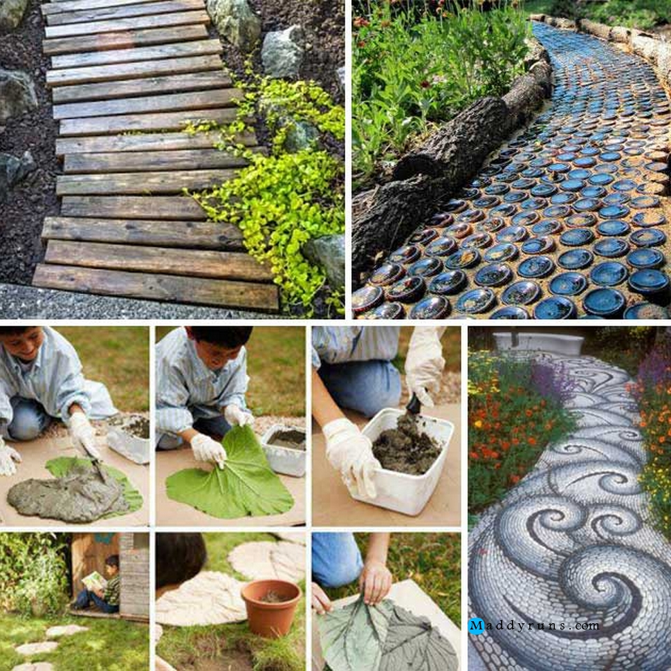 Beautiful Diy Garden Part - 3: DIY Different Unusual Garden Paths