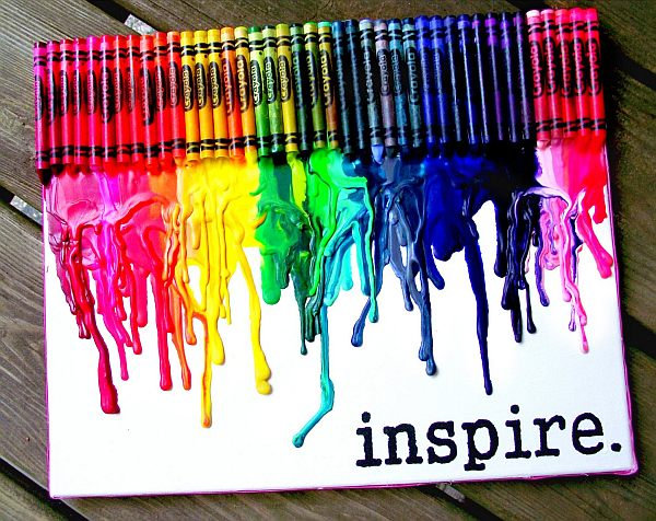 Smart DIY Melted Crayon Art Project Adding Color To Any Decor