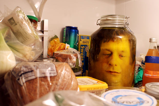 Terrify Your Guests With a Ghoulish Great- The DIY Head in a Jar Halloween Project