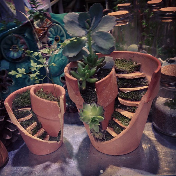 Hot To Transform Broken Pots Into Magnificent DIY Fairy Gardens