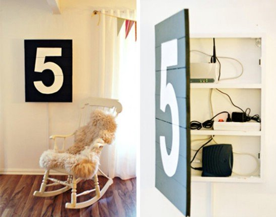 Secure Your Valuable Items in a Doubled Wall Art Piece