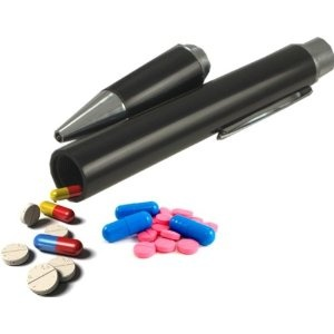 Pen Able To Accommodate Pills, Diamonds Or Bills
