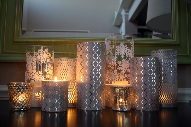 29. METALLIC PAPER CANDLE HOLDERS COVERS