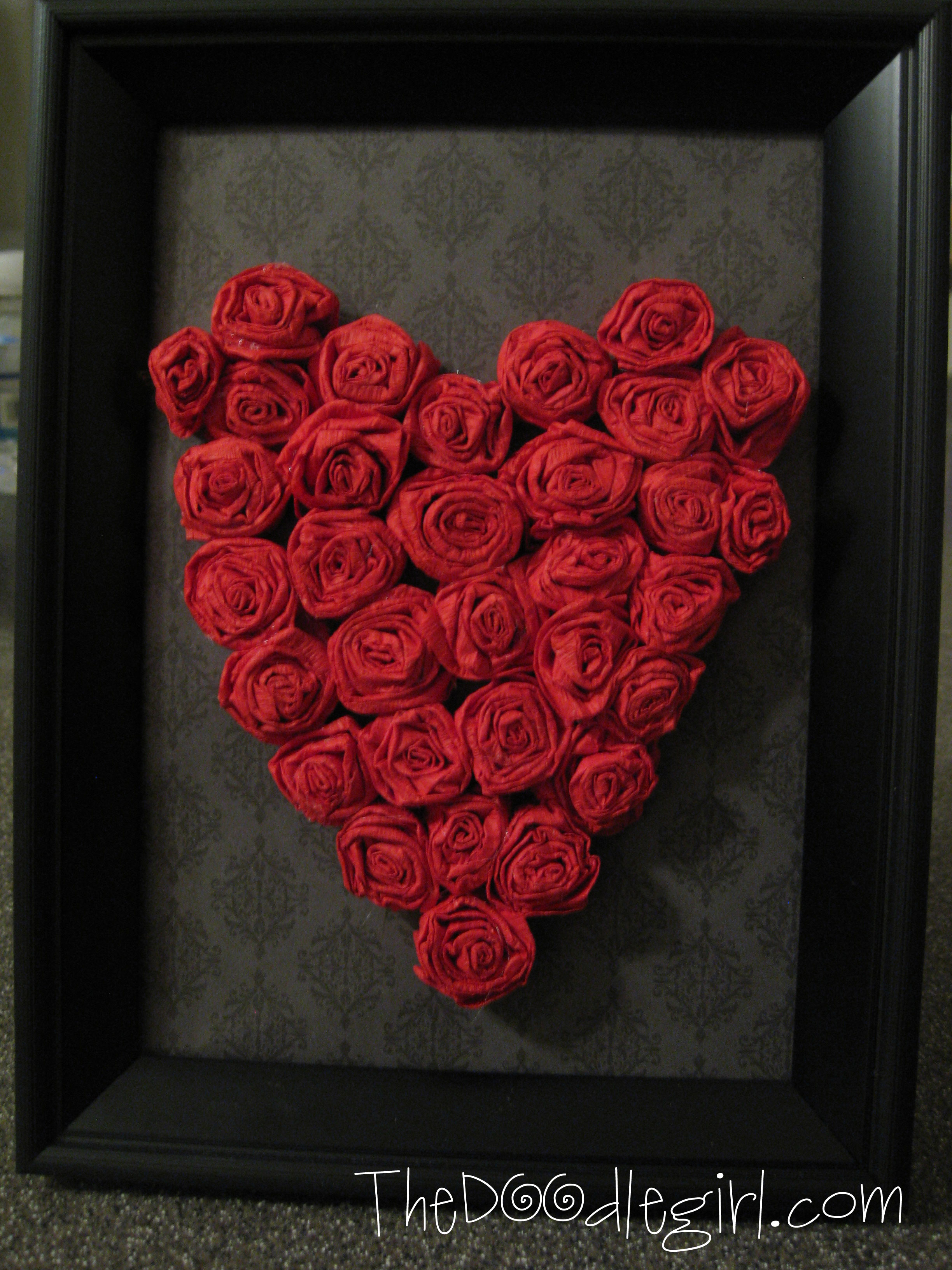 Ways to decorate your home with paper crafts surprise your valentine with this beautiful diy paper rose heart art jeuxipadfo Gallery