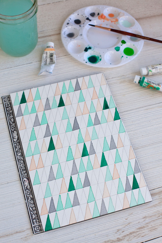 12. MAKE YOUR OWN WATERCOLOR PAPER WALL ART
