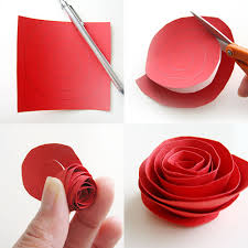 10. EASY WAY TO CUT PAPER ROSES