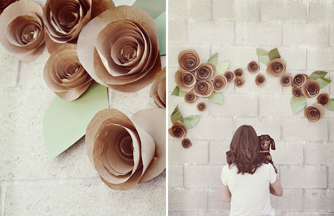 9. PAPER ROSE WALL DECOR