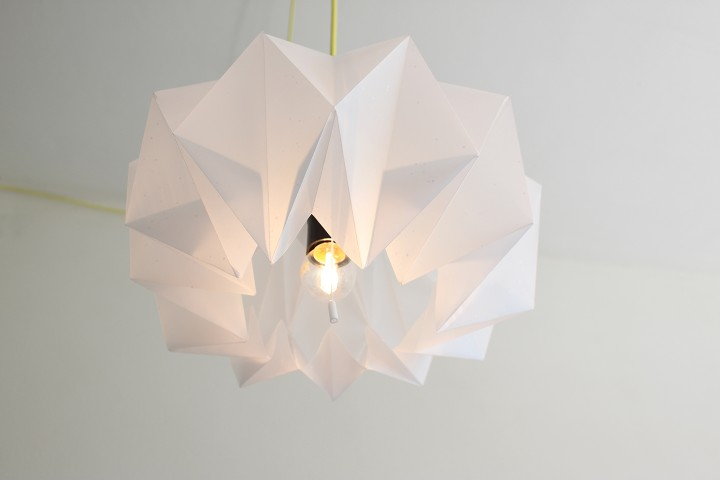 7. WHITE SCULPTURAL PAPER LAMP