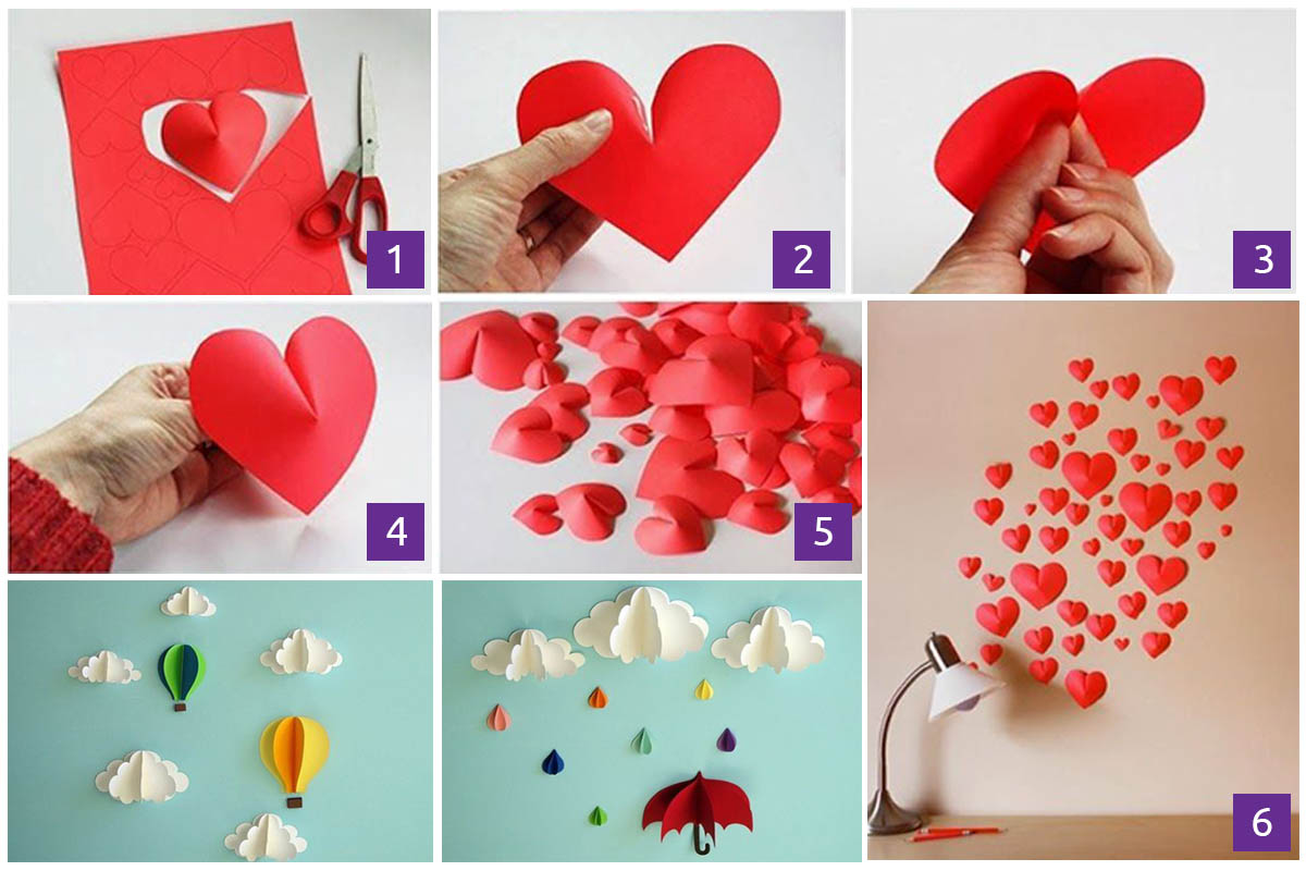 6 our favorite paper heart wall decor