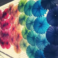 31. COLORFUL PAPER SWIRLS USED AS LANTERN