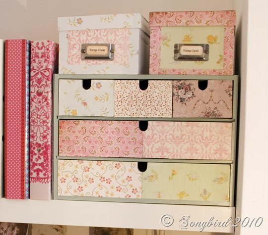 2. CARDBOARD BOXES DECORATED WITH FLORAL PAPER PATTERNS