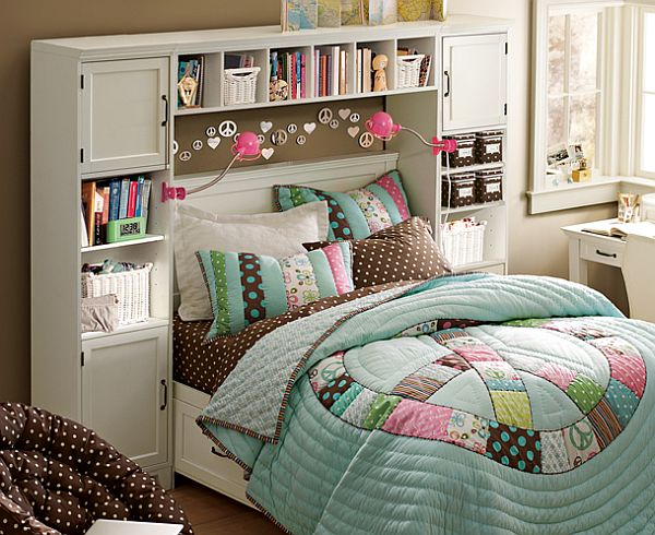 Space Efficient Bedroom Interior Design For Girls
