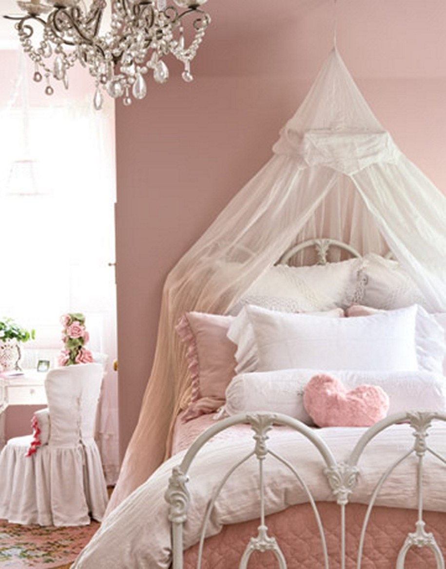 32 dreamy bedroom designs for your little princess - Cortinas vintage dormitorio ...