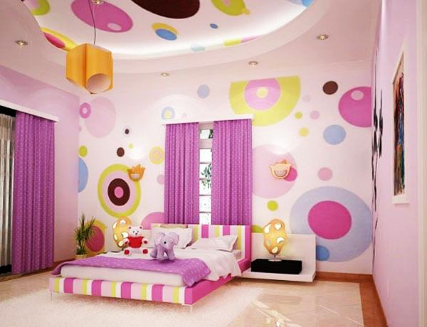 Immersive Bubbles Colors in a Teenage Bedroom