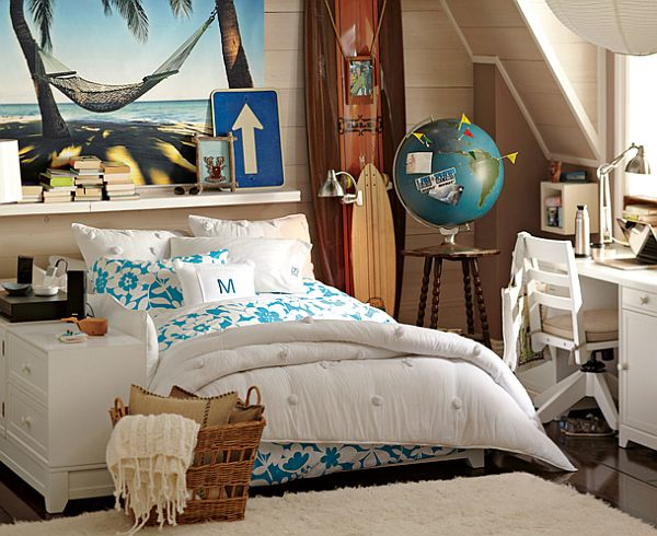 Exceptional Elegant And Relaxed Teenage Girls Bedroom