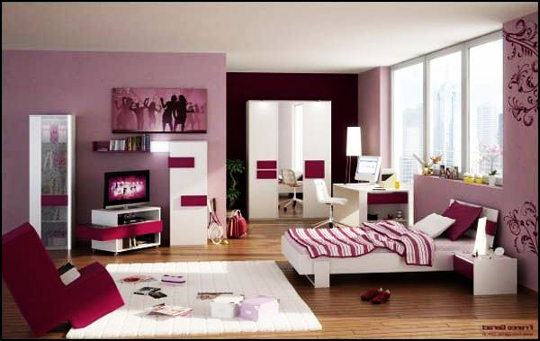 Highly Colorful Girl Room In a Pink Color Palette