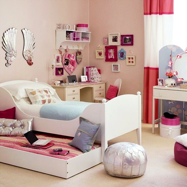 Genial White Teenage Girls Room Ideas Playful Teenage Girls Bedroom Interior Design