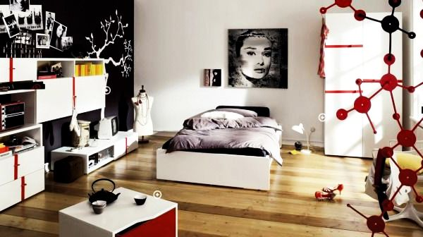 Modern Simplicity Exuded By In This Teenage Bedroom Design