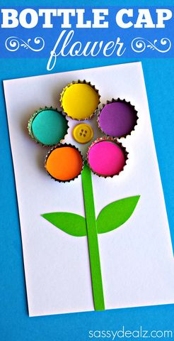artistic bottle cap flower design