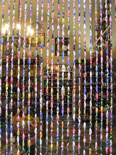 bottle cap privacy curtain wearing colors
