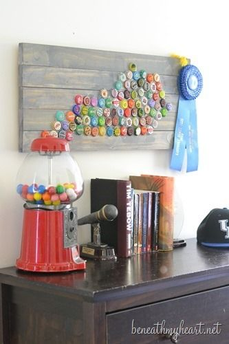beautiful bottle cap wall art