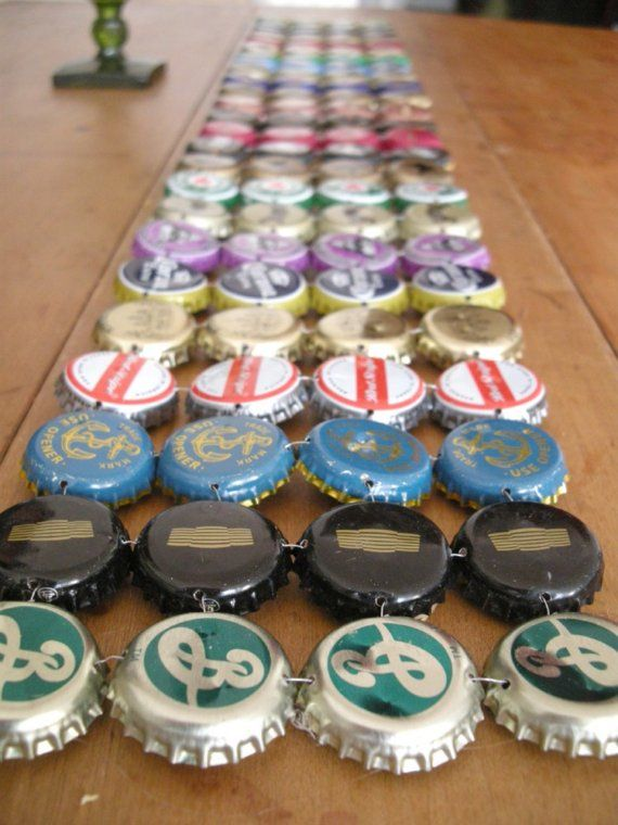 bottle cap bar serving area to craft at home