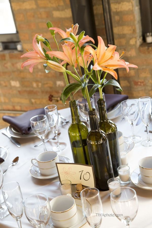 24 Dazzling Diy Wine Bottle Centerpiece Ideas