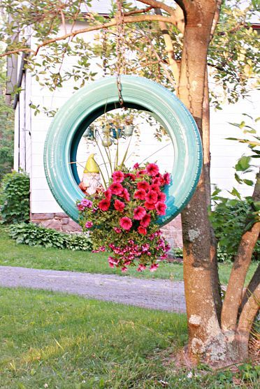 24 DIY Tire Projects- Creatively Upcycle and Recycle Old Tires Into a New Life (39)