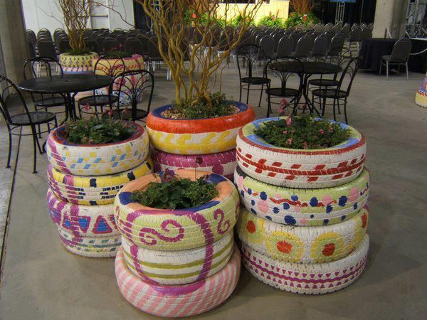 24 DIY Tire Projects- Creatively Upcycle and Recycle Old Tires Into a New Life (42)